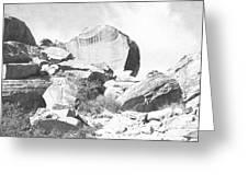 Giant Sandstone Boulders Greeting Card