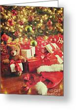 Gifts Under The Tree For Christmas Greeting Card