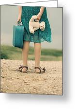 Girl In The Dunes Greeting Card