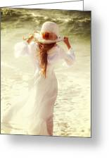 Girl With Sun Hat Greeting Card by Joana Kruse