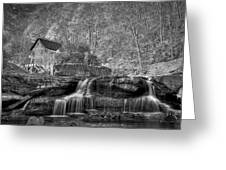 Glade Creek Grist Mill At Babcock Greeting Card