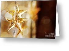 Golden Christmas Stars Greeting Card