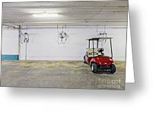 Golf Cart Parking Garage Greeting Card by Skip Nall
