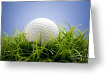 Golfball Greeting Card