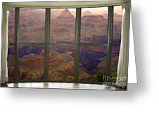 Grand Canyon Springtime Bay Window View Greeting Card