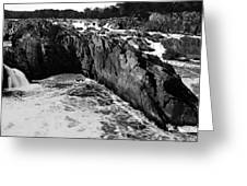 Great Falls Virginia Bw Greeting Card