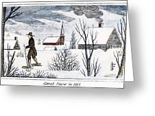 Great Snow Of 1717 Greeting Card