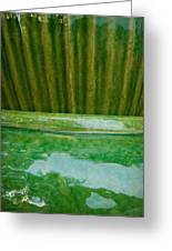 Green Pottery Greeting Card