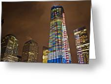 Ground Zero Freedom Tower Greeting Card