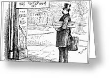 Grover Cleveland Cartoon Greeting Card