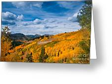 Guardsman Pass In The Fall Greeting Card