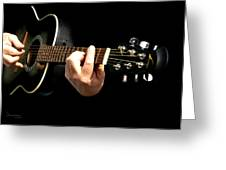 Guitar In Hands  Greeting Card