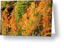 Hang Gliding The Autumn Colors Greeting Card