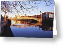 Hapenny Bridge, River Liffey, Dublin Greeting Card