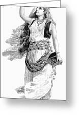 Harem Woman. 19th Century Greeting Card