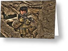 Hdr Image Of A German Army Soldier Greeting Card
