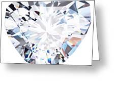Heart Diamond  Greeting Card
