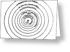 Heliocentric Universe, Copernicus, 1543 Greeting Card