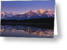 Herbert Lake Sunrise Greeting Card