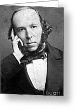 Herbert Spencer, English Polymath Greeting Card