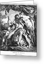 Hercules And Omphale Greeting Card