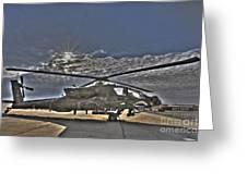 High Dynamic Range Photo Of An  Ah-64d Greeting Card