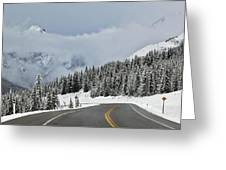 Highway 40 In Winter, Highwood Pass Greeting Card