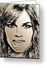Hilary Swank In 2007 Greeting Card
