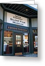 Historic Niles District In California Near Fremont . Niles Essanay Silent Film Museum Edison Theater Greeting Card by Wingsdomain Art and Photography