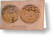Historical Artwork Of Canals On Surface Of Mars Greeting Card