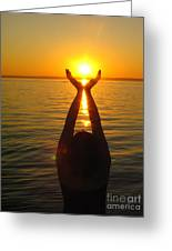 Holding The Sun Greeting Card