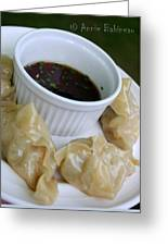 Homemade Potstickers Greeting Card