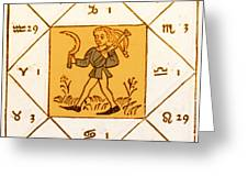 Horoscope Types, Engel, 1488 Greeting Card