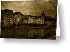 Hotel Schiff Greeting Card by Ron Jones