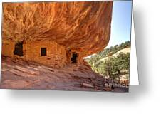 House On Fire Anasazi Indian Ruins Greeting Card