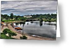 Hoyt Lake Delaware Park 0005 Greeting Card