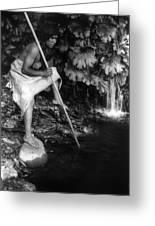 Hupa Fisherman, C1923 Greeting Card