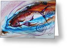 Hurricane Fish 28 Greeting Card