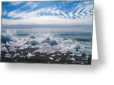 Ice Beach Greeting Card