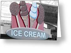 Ice Cream Sign Greeting Card