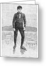 Ice Skater, 1880 Greeting Card