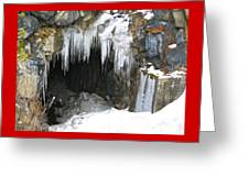 Icicle Falling Greeting Card