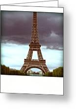 Illustration Of Eiffel Tower Greeting Card