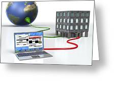 Internet Censorship, Conceptual Artwork Greeting Card