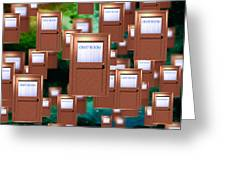 Internet Chat Rooms Greeting Card by Victor Habbick Visions
