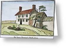 Isaac Newton Birthplace Greeting Card