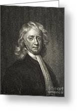 Isaac Newton, English Polymath Greeting Card
