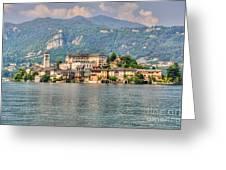 Island San Giulio Greeting Card