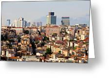 Istanbul Cityscape Greeting Card