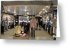 Italian Fashion Shop For Men Tallinn Greeting Card